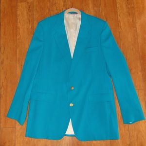Hart Schaffner & Marx turquoise sport coat